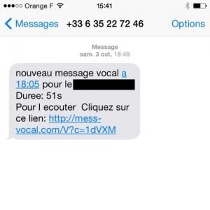 Les spams SMS nouvelle génération ressemblent à s'y méprendre à un message d'opérateur. © Linternaute.com